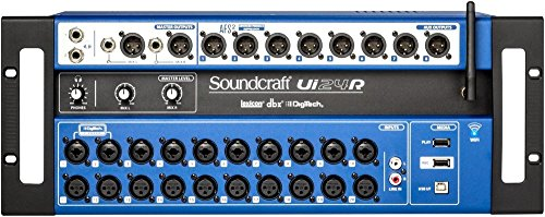 Soundcraft Ui24R 24-channel Digital Mixer/USB Multi-Track Recorder with Wireless Control (Renewed)