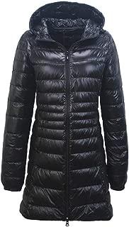 KCatsy Sovalro Women Winter Plus Size Light Down Long Coat White Duck Down Jacket