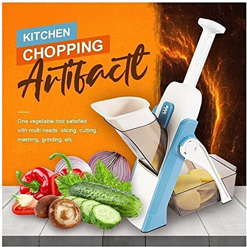 Vegetable Chopper Slicer,Multifunctional Kitchen Chopping Artifact,Food Slicer Cut Vegetables and Meat,Peeler Salad Chopper Onion Chopper,French Fry Maker Cutter,for Slicing,Dicing,Julienne