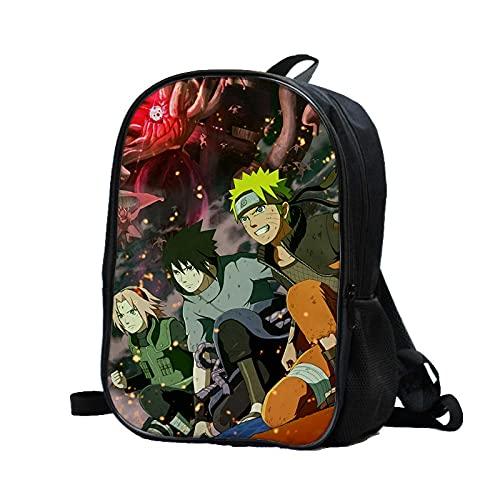 huanglinHG Anime Naruto Zainetto Naruto Sasuke Uchiha Itachi Studenti Delle Scuole Primarie E Secondarie Uomini E Donne Casual Outdoor Backpack-006_39X28X14Cm
