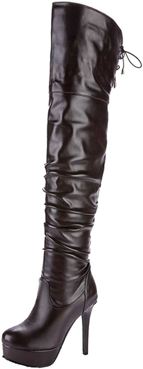 CUTEHEELS Over-The-Knee Boots with Stiletto Sexy Long Boots with Large Size and 3-colors Available