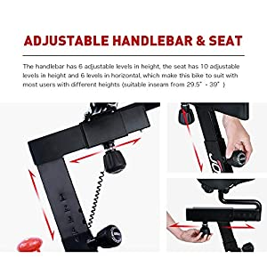 JOROTO Magnetic Exercise Bike Stationary - Belt Drive Indoor Cycling Bikes Trainer Workout Cycle for Home (Suitable Inseam: 29 to 39 inches) (XM16)