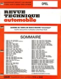 BAREME DE TEMPS DE MAIN-D'OEUVRE MECANIQUE DE LA REVUE TECHNIQUE AUTOMOBILE OPEL 3 EME EDITION / CORSA / KADETT / ASTRA / ASCONA / MANTA / VECTRA / REKORD / OMEGA / SENATOR / MONZA / CALIBRA / FRONTERA