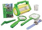 MEDUP BL033 - Juego de captura de insectos con caja de almacenamiento, red, lupa y lupa para vasos, pulsera de brújula y cuaderno con lupa con mucha información interesante sobre insectos