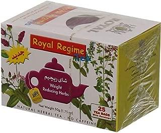 Royal Regime Tea Bags Weight Loss Reducing Herbal Slimming Herbs Detox Diet Morning & Evening Perfect Overweight Herbs Drink (1 Box = 25 Tea Bag)