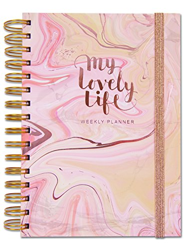 Rachel Ellen Designs Personal Organiser - My Lovely Life - A5 Undated Weekly Planner With To Do, Lists, Notes, Stickers, Pockets, multi
