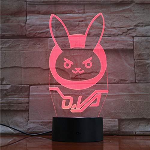 Fantasy Anime 3D luz de noche cargador USB decoración del hogar café fiesta juguete cumpleaños Navidad niños regalo