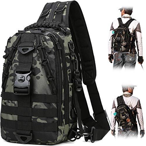 BLISSWILL Fishing Backpack Storage Bag Outdoor Tackle Bag Large Fishing Tackle Bag Water-Resistant Outdoor Shoulder Backpack Fishing Gear Bag(Upgraded Version)
