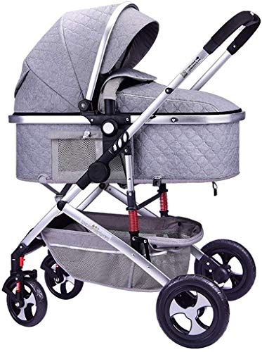 Lowest Prices! TZZ Baby Stroller with Anti-Shock All Terrain City Select Pram Compact Carriage Pushc...