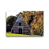 CALVENDO Premium Textil-Leinwand 45 x 30 cm Quer-Format Historischer Kehdinger Bauernhof, Leinwanddruck von Henning von Loewis of Menar