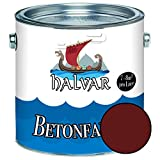 Halvar Betonfarbe/Bodenbeschichtung SEIDENMATT Braun RAL 8000-8028 Fassadenfarbe (1 L, RAL 8012 Rotbraun)