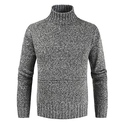 Men's Jumpers High Round Neck Sweater Elegant Long Sleeve Fine Knitted Pullover Mens Fashion Turtleneck Knit Jumper Leisure Knitwear Pullovers T Shirts Tops M