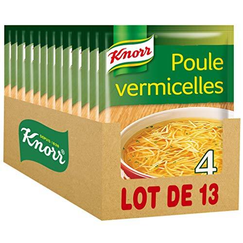 Knorr Soupe Déshydratée Poule aux Vermicelles pour 4 Personnes (Lot de 13 Sachets)