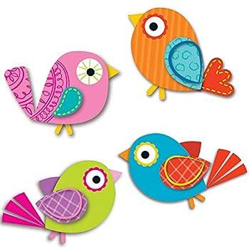 Carson Dellosa – Boho Birds Mini Colorful Cut-Outs Classroom Décor 36 Pieces