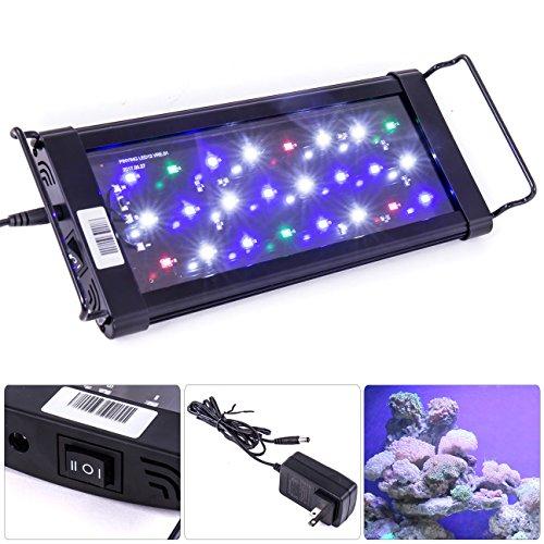 """AJP Distributors LED SMD 12"""" - 18"""" White Blue Red Aquarium Fish Tank Light Bar Extendable Bracket 2 Mode 24 LED 1440 Lumen"""