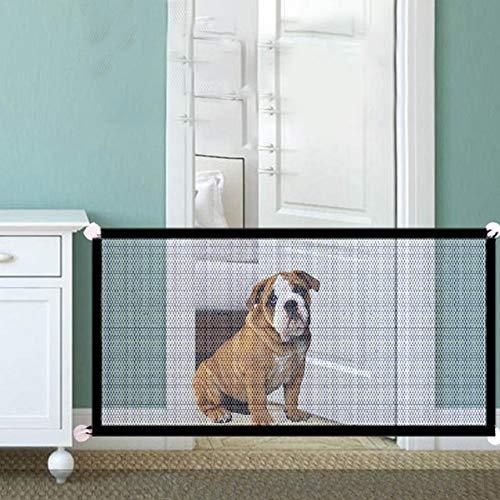 humflour Hunde Absperrgitter, Haustier-Zaun-Sicherheits-Isolierungs-Netz-Balkon-Sicherheits-Zaun Versieht Tragbares Faltendes Hundetor Mit Einem Gatter