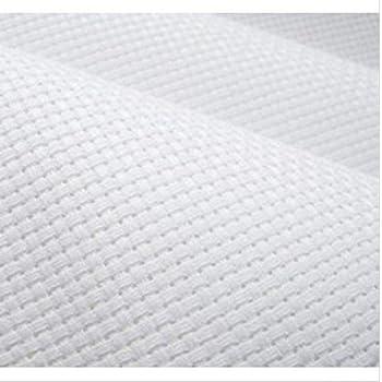 Tessuto Panama al Metro 100/% Cotone Punto Croce per Ricamo Flor M/árquez Rosa, 1,50 x 1,00 m Made in Spagna.
