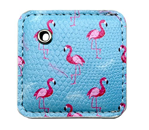 Orzero Case for Tile Mate Finder with Keychain / Key Ring Away from Scratch Wet Dirty (Tile Finder Not Included)-Flamingos