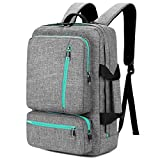 SOCKO 17 Inch Laptop Backpack with Side Handle and Shoulder Strap, Travel Bag Hiking Knapsack Rucksack College Student Shoulder Back Pack For Up to 17 Inches Laptop Notebook Computer, Grey-Green hiking backpacks Oct, 2020