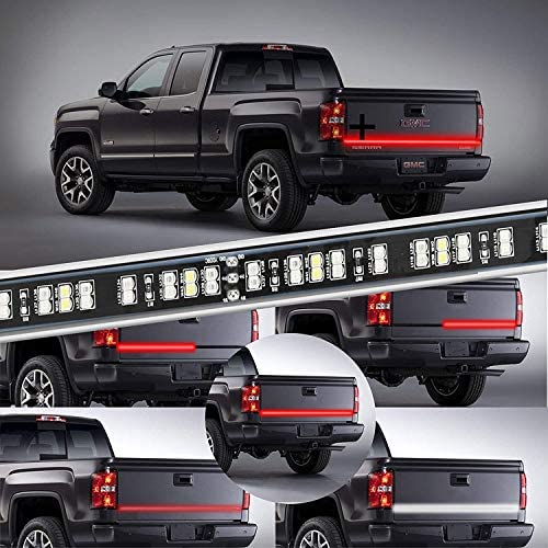 KUFUNG LED Truck Tailgate Light Bar Strip 2 Row 48 Inch Waterproof Red White Reverse Brake Lights product image