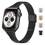 Amzpas Compatible avec Apple Watch Bracelet 44mm 42mm 40mm 38mm, Mince Bracelets de...