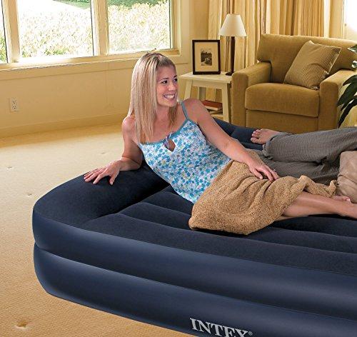 Intex Pillow Rest Raised Luftbett - Queen - 203 x 152 x 42 cm - Mit eingebaute elektrische Pumpe