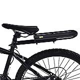 Cikonielf Ripiano Posteriore per Bici,Portapacchi Posteriore per Bicicletta,in Lega di Alluminio,Sopporta Max 10 kg Nero, 33,3 x 11.7 cm
