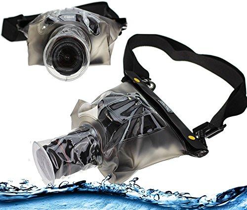 Navitech Schwarze wasserdichte Unterwassergehäuse Kasten/Beutel-trockener Beutel für das Panasonic LUMIX DMC-FZ1000EG Premium Bridge Camera/Panasonic DMC-FZ330