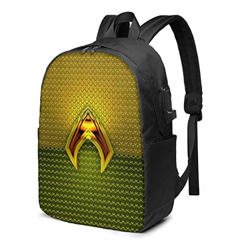 Aqua-Man Laptop Backpack- with USB Charging Port/Casual Waterproof Backpacks for Work Travel School