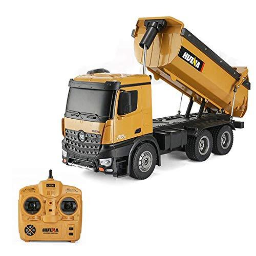 ZMH Pelle à Distance pour Les Enfants 2.4G télécommande Camion à Benne Dump Jouet Génie des Enfants véhicule Transporter Toy 10 canaux
