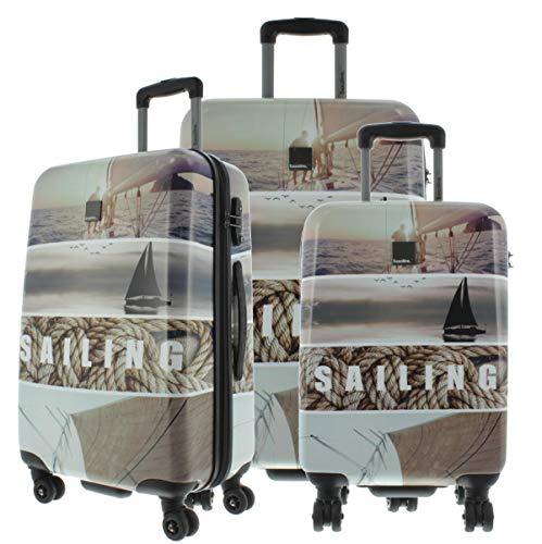 Saxoline Blue Koffer Spinner mit Zahlenschloss 3er Set, Sailing