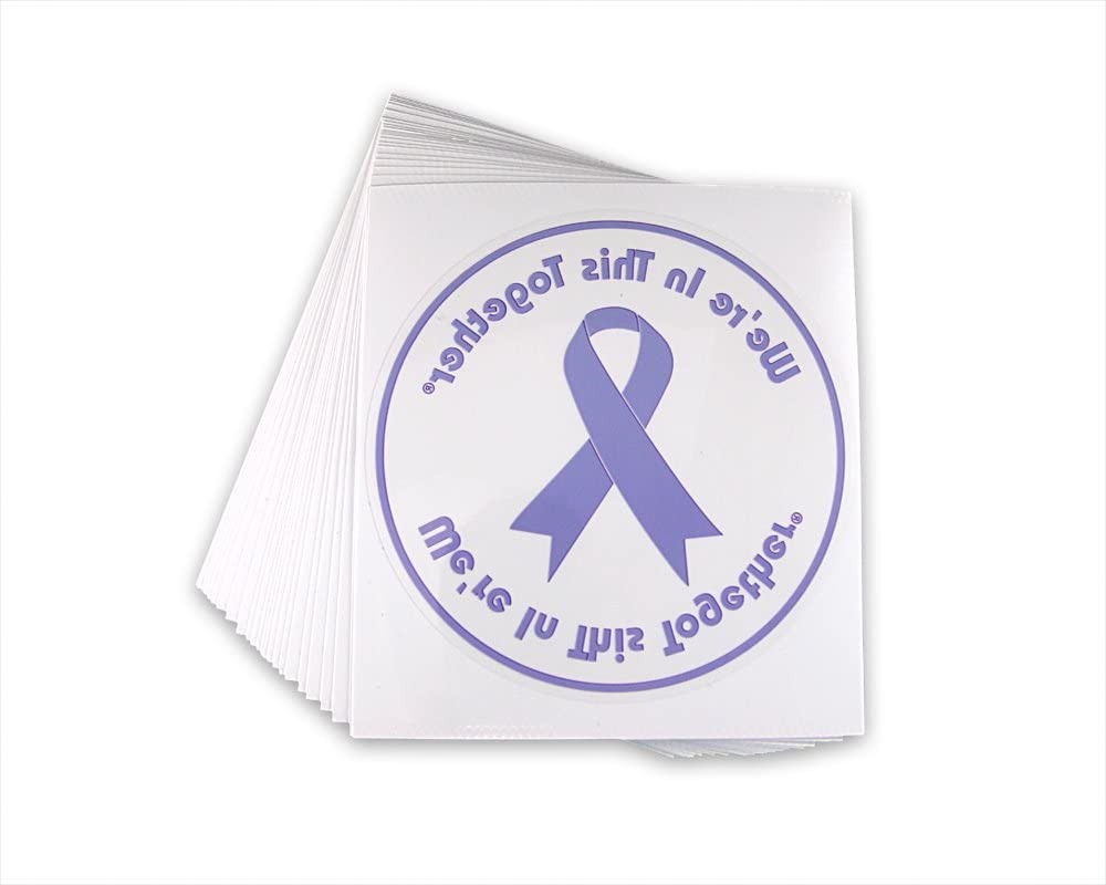 Fundraising Popular shop is the lowest price challenge For A Product Cause Purple Ribbon Car Window Awareness Decal