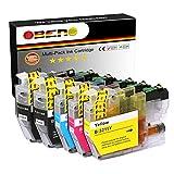 OBENO – 1 Set 1 BK – LC3211 LC3213 5 Cartuchos de Tinta compatibles para Brother LC3211 MFC-J890DW, MFC-J895DW, DCP-J772DW, DCP-J774DW, DCP-J572DW (2 Negro, 1 Cian, 1 Magenta, 1 Amarillo)