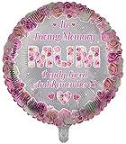 Globos de papel de aluminio de lujo con forma redonda de recuerdo de la madre globos funerarios, globos de aluminio para mesa de memoria, conmemoración, condolencia, aniversario