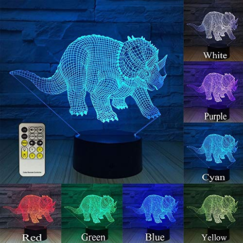 Dinosaurier neben Idee Nachtlicht 3D LED Tischlampe Kinder Geburtstagsgeschenk Nachtzimmer Dekoration
