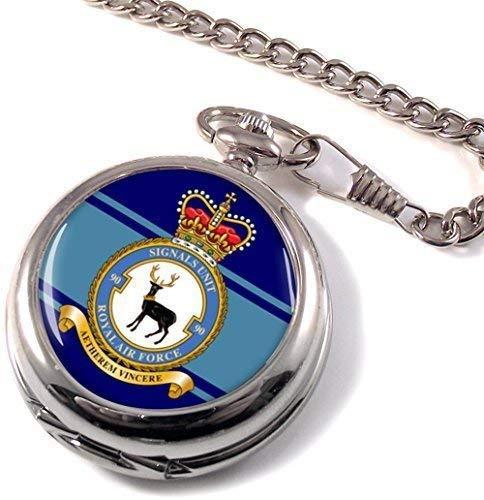 Numéro 90 Signaux Unité Royal Air Force (Raf ) Poche Montre