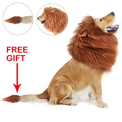 Helmay Funny Dog Lion Mane Dog Costumes Lion pruik met tail Pets Party Supplies
