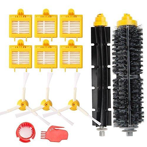 efluky Roomba 700Serie Zubehör Kit, 6Filter 3Seitliche Pinsel 1Borstenpinsel 1Flexibler Schlägel Pinsel 2Reinigung Werkzeug Ersatzteile für iRobot Roomba 700Serie 760770780790