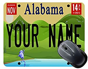 license plate mousepad
