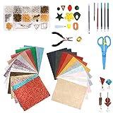 Y-Step Pelle Orecchini Set DIY Accessori Creazione Gioielli, Glitter Leather Orecchino Bra...