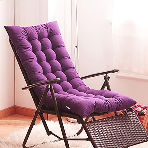 Zagęścić Chaise Lounger Poduszka do poduszki na zewnątrz wewnątrz, nie poślizgowa przenośna wymiana poduszki leżakowej, wyjątkowo duże poduszki na krzesło,Purple,125x48cm(49x19inch)