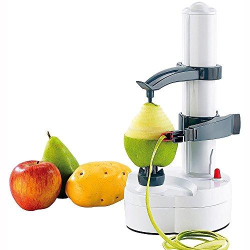 Pelapatate elettronico per frutta e verdura in acciaio inox bianco