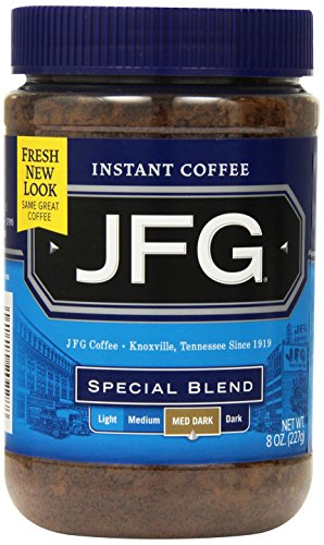 JFG Special Blend Instant Coffee, 8 Ounce Jars (Pack of 4)