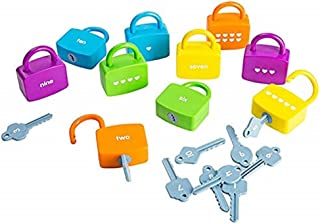Montessori Sensory Teaching Young Children Graphic Pairing Cognition Early Education Key Digital Unlock Puzzle Toys
