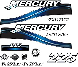 Mercury New Outboard Decal Sticker Kit Compatible with Mercury 225 HP Blue