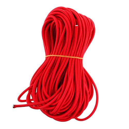 Toygogo Cuerda Elástica Roja Fuerte Elástica De 6 Mm Cable De Choque Cuerda Elástica Cuerda De Amarre Techo Tienda De Kayak Bolsa De Equipaje Equipaje DIY Art