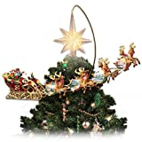 Thomas Kinkade Holidays in Motion Rotating Illuminated Tree Topper: Animated Christmas Decor by The Bradford Editions