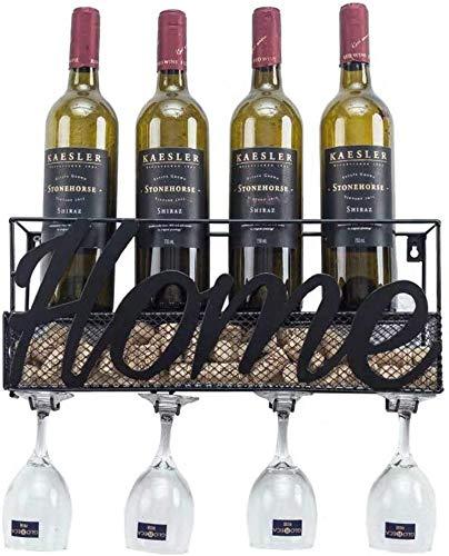 ZfgG Flessenrek | Muur gemonteerde metalen wijnrek | Flessen- en glashouder | Rode wijnrekken | Champagne drankrekken