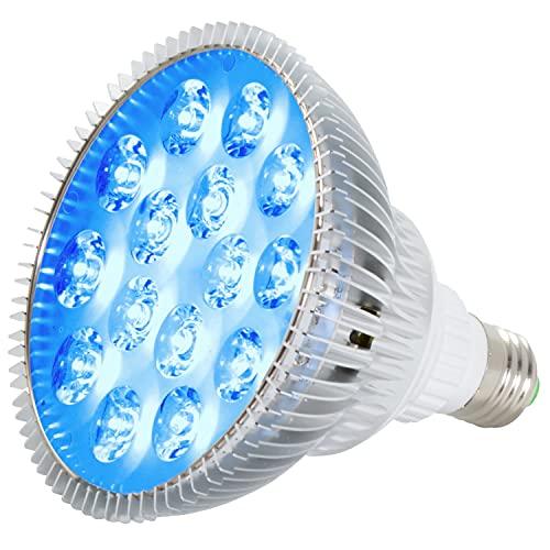 ABI 12W Blue LED PAR38 Grow Light for Aquarium and Plant Growth (450-460nm)
