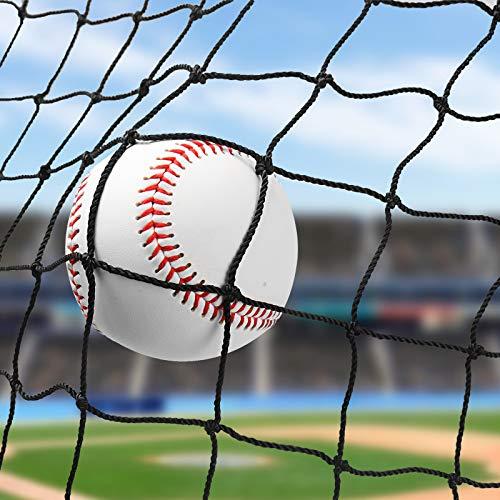 Wiseek 10′x20′ Baseball Softball Backstop Nets, Heavy Duty Baseball Netting Ball Stop Netting #18 Nylon Sport Netting Barrier